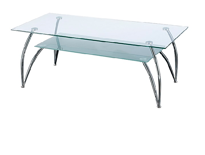 Antique Rectangular Glass Coffee Table Design