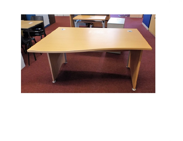 Beech Lh Wave Blandford Office Furniture