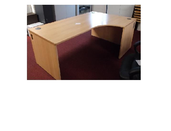 L Beech R H Desk Blandford Office Furniture
