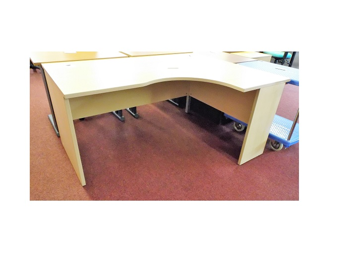 Light Beech Rh Corner Desk Blandford Office Furniture
