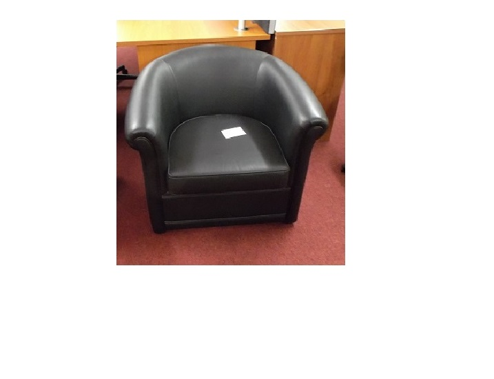 Ex Display Leather Faced Tub Chair Blandford Office Furniture